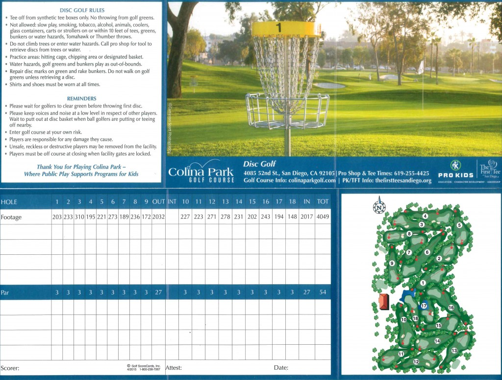 Disc-Golf-scorecard